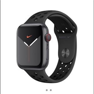 Nike Mens Black Apple Watch Sports Band